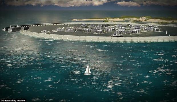 3 năm nữa sẽ có thành phố nổi đầu tiên trên thế giới giữa đại dương mênh mông?
