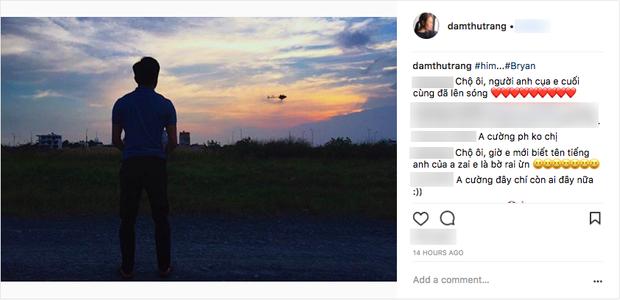 Đàm Thu Trang khoe ảnh Cường Đô La trên Instagram cá nhân.