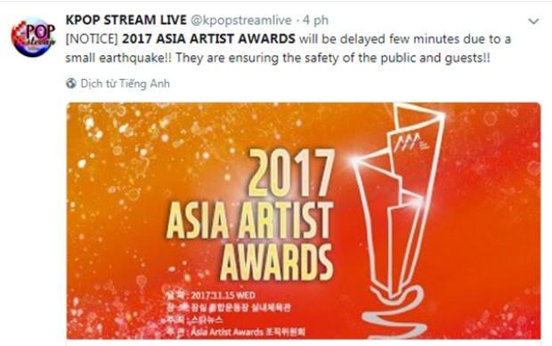 Chương trình đang phải tạm hoãn để đảm bảo an toàn cho các nghệ sĩ tham dự.