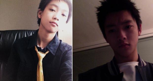Chris Khoa năm 15 tuổi (bên trái), còn bên phải là khi 19 tuổi