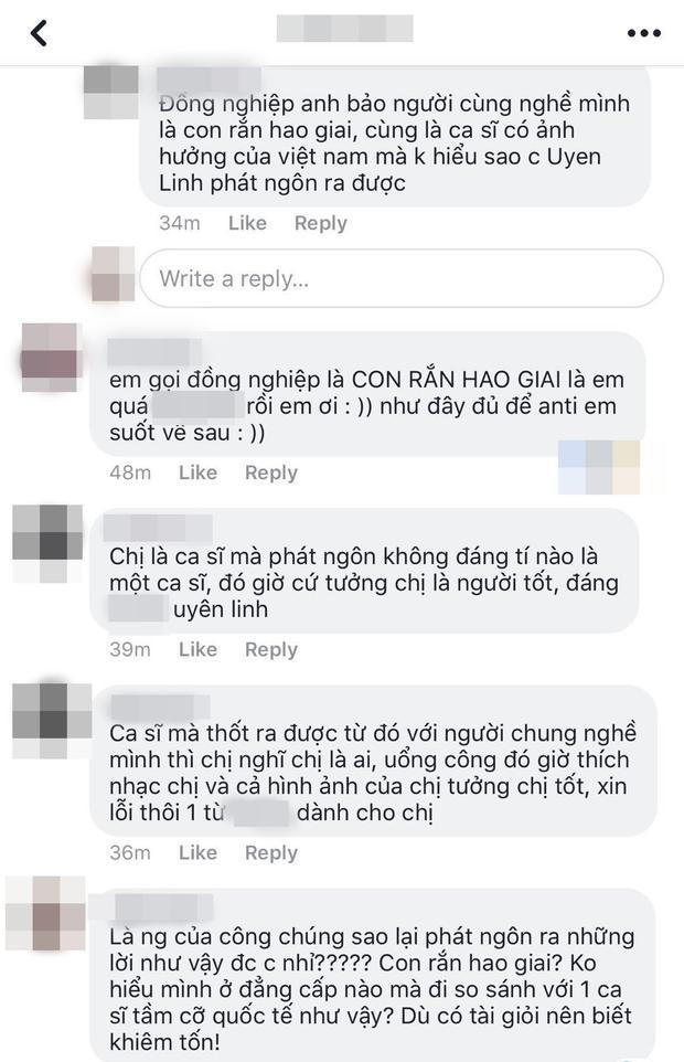 Nhiều ý kiến phản đối cách chia sẻ này của Uyên Linh.