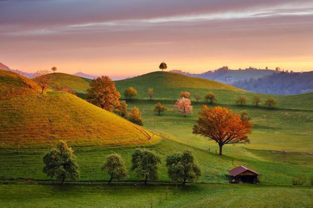 Cảnh quan mang một vẻ đẹp mộng mơ.