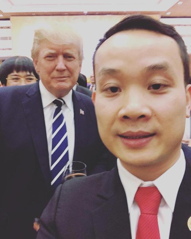 Doanh nhân 8X gây chú ý vì ảnh selfie cùng Tổng thống Mỹ Donald Trump