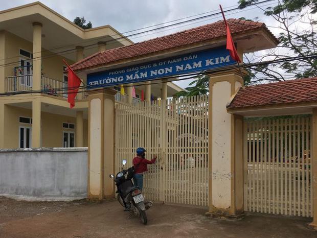 Trường mầm non Nam Kim, nơi xảy ra sự việc.
