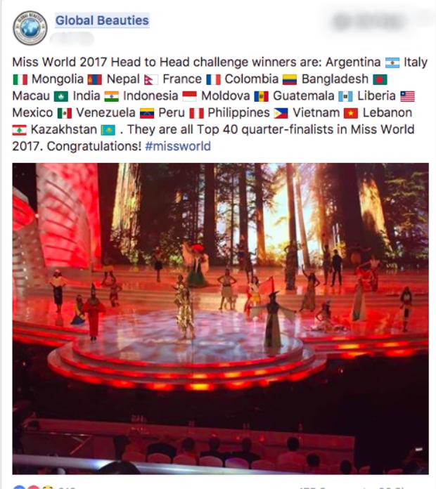 Đỗ Mỹ Linh giành suất vào top 40 ngay trước thềm chung kết Miss World