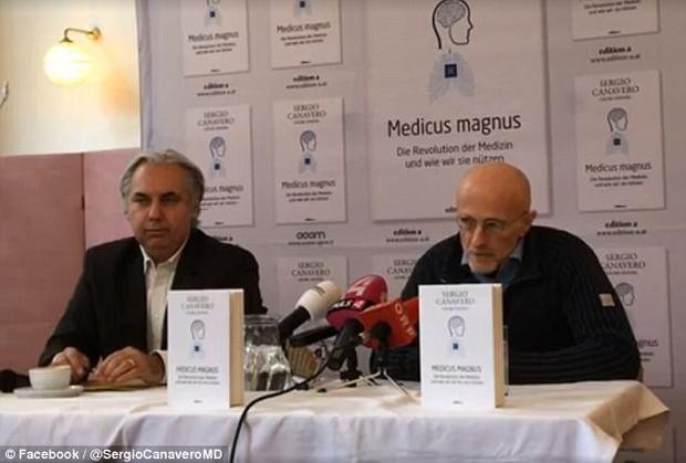 Cuộc họp báo của giáo sư Canavero diễn ra tại Vienna vào ngày 17/11.