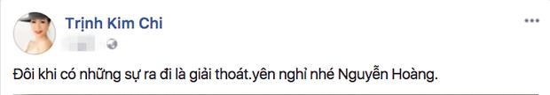 """Diễn viên Trịnh Kim Chi mong nam diễn viên Bông hồng trà hãy yên nghỉ. Chị tâm sự: """"Đôi khi có những sự ra đi là giải thoát""""."""