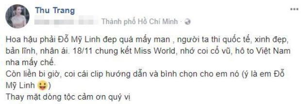 Loạt Hoa hậu, Á hậu và các sao Việt không ngừng gửi lời chúc đến Đỗ Mỹ Linh trước giờ G chung kết Miss World 2017