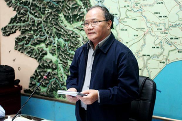 Ông Hoàng Văn Thắng tại cuộc họp. Ảnh: Quang Chiến.