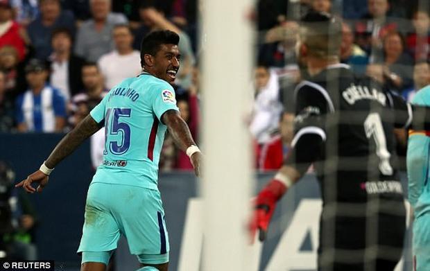 Đến phút 90, tân binh Paulinho ấn định chiến thắng 3-0 cho Barca với pha đệm bóng cận thành để dàng từ nỗ lực đi bóng của Messi.