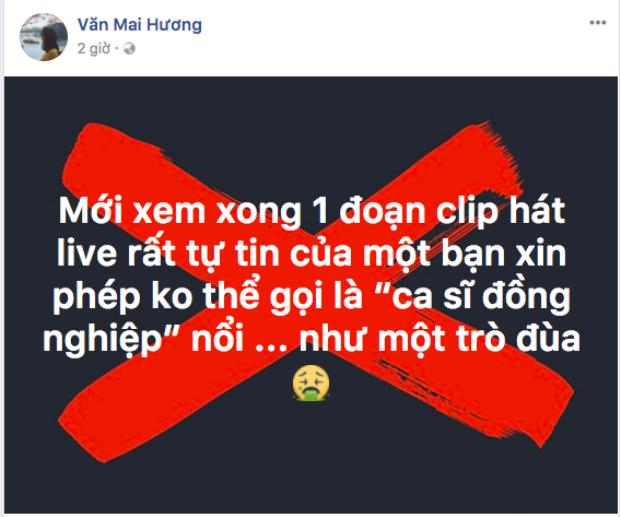 Văn Mai Hương cho rằng clip live mà cộng đồng mạng đang chia sẻ như một trò đùa.