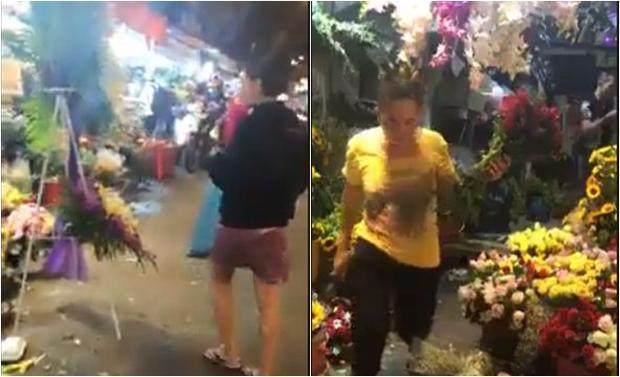 Cô gái trẻ (bên trái) phân bua với người phụ nữ (bên phải) nhưng người này hầu như chỉ im lặng.