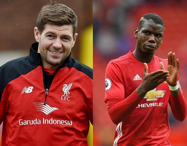 """Theo nhận định của HLV Benitez, Pogba cần thêm ít nhất 10 năm để có thể """"ngồi chung mâm"""" với Gerrard."""