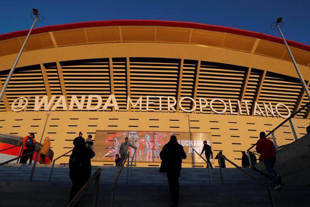 Vụ tấn công diễn ra bên ngoài sân Wanda Metropolitano.