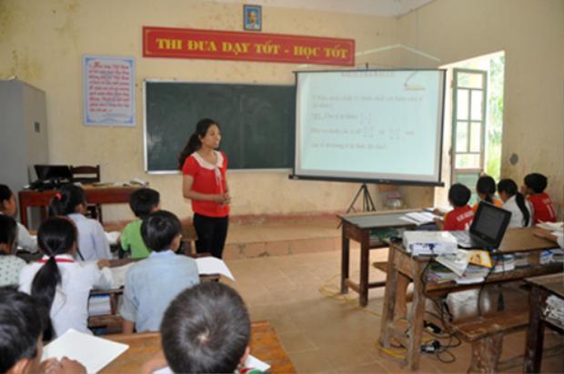 Lớp học tại trường THPT dân tộc bán trú Bản Công, Trạm Tấu, Yên Bái. Ảnh:Báo Yên Bái