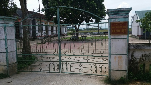 UBND xã Võ Liệt, nơi bà Hồng làm việc.
