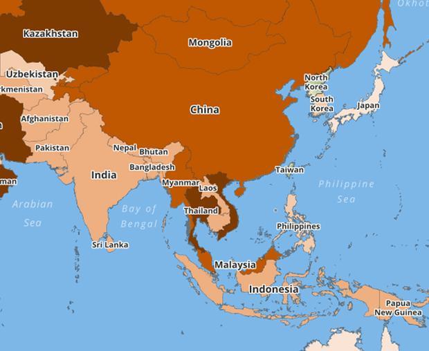 Việt Nam và các nước châu Phi có mức tai nạn giao thông đáng báo động.