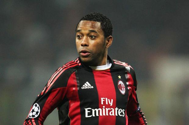 Robinho phạm tội khi còn khoác áo Milan.