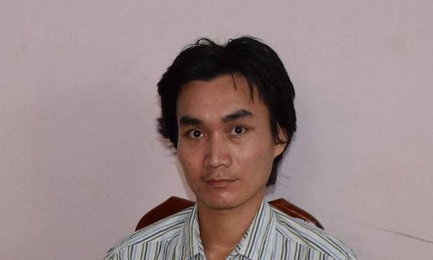 Thạch Văn Nghĩa tại cơ quan công an.