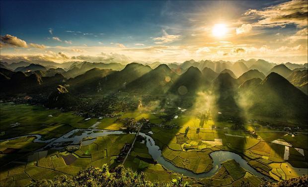 Thung lũng Bắc Sơn (Lạng Sơn) được ca ngợi như một thiên đường xanh hiếm có, vừa trong mát, vừa yên bình.