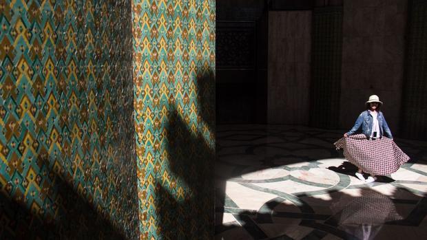 Casablanca, Ma-rốc:Nhà thờ Hồi giáo Hassan II ở Casablanca.