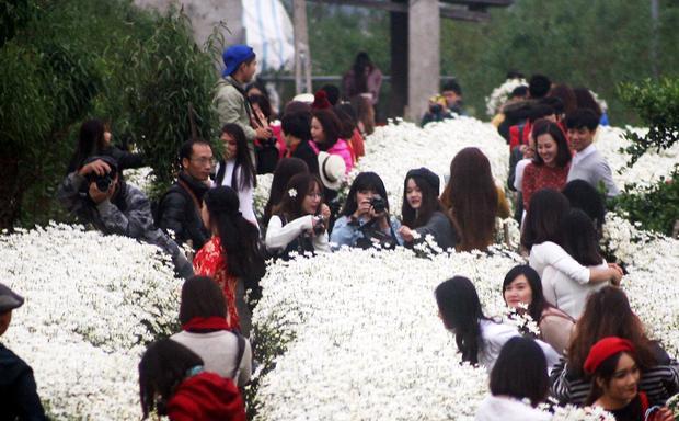 …Và đây là khung cảnh vào sáng nay (26/11). Ảnh: Định Nguyễn.