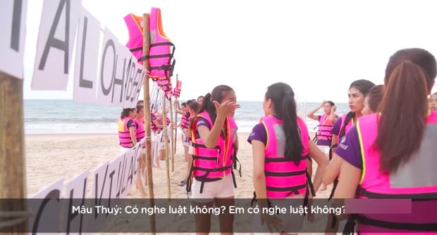 Mâu Thuỷ nổi nóng với đồng đội vì không hiểu ý ở HHHV Việt Nam 2017