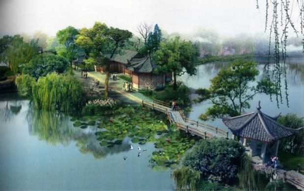 """Nằm ở phía Tây của Hàng Châu, Hồ Tây là hồ nước ngọt nổi tiếng mang nét đẹp cổ kính và lịch sử lâu đời,được Unessco công nhận là di sản thế giới vào năm 2011. Quả là """"Trên có thiên đàng, dưới có Tô Hàng""""."""