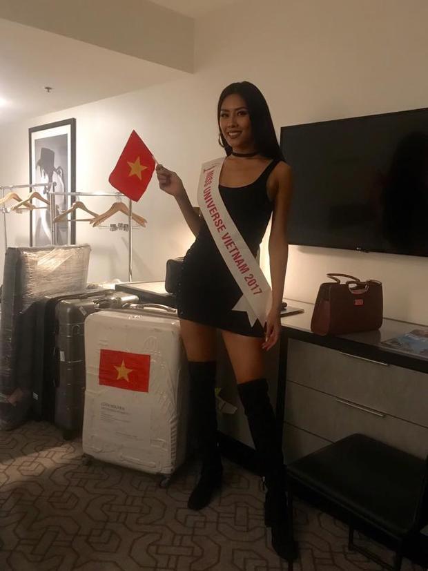"""Sau một ngày vui chơi với các kiều bào, chân dài gốc Thái Bình chính thức bước vào """"cuộc chiến"""" khốc liệt tại Miss Universe 2017."""