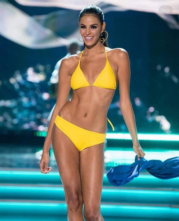 Người đẹp Venezuela lựa chọn cho mình một thiết kế bikini với màu vàng nổi bật, thần thái tự tin cùng những bước catwalk điêu luyện đã góp phần giúp cô đoạt được vị trí top 5 chung cuộc.