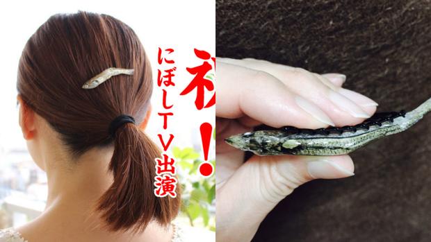 Bạn có sẵn sàng cài chiếc kẹp tóc cá mòi này.