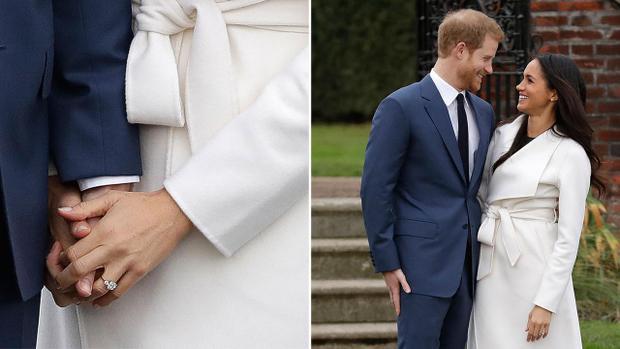 Hoàng tử Harry và vị hôn thê tay trong tay khira mắt công chúng sau thông báo kết hôn.