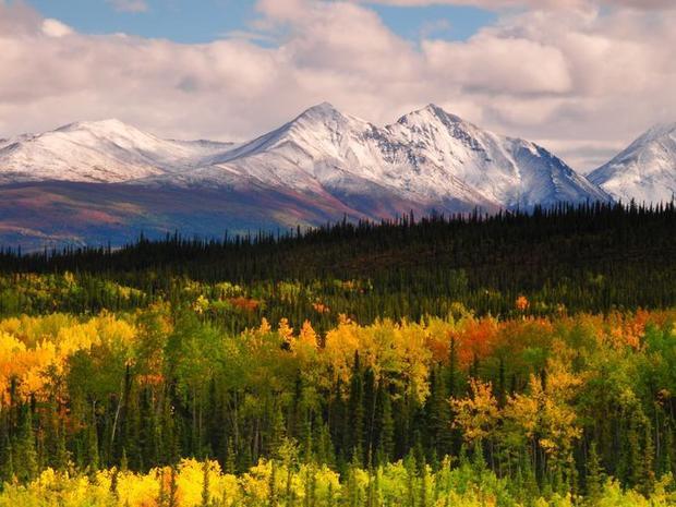 Vào cuối mùa thu tại vườn quốc gia, màu sắc rực rỡ của các loại cây cộng thêm một vài bông tuyết bắt đầu rơi báo hiệu mùa đông sắp đến.