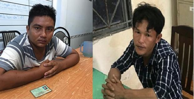 Đối tượng Bùi Phước Tuấn (bên trái) và Nguyễn Ngọc Thảo.