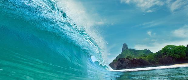 Nước biển xanh ngọc và màu sắc sinh động của những động vật ẩn dưới những vách đá cao chót vót.