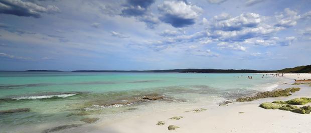 """""""Bãi biển Hyams có màu cát trắng nhất mà tôi từng nhìn thấy""""."""