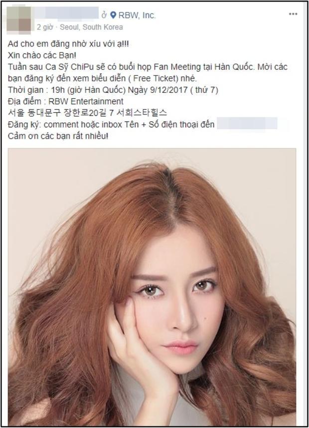 Thông tin buổi fan meeting được đăng tải trên các diễn đàn sinh viên Hàn Quốc.