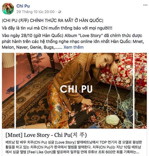 Ngoài phát hành single tại Việt Nam, album Love Story tại Hàn Quốc của Chi Pu cũng vướng phải không ít tranh cãi.