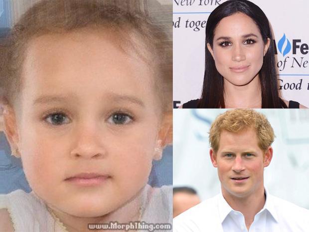 Một số hình ảnh dự đoán con Hoàng tử Harry và nữ diễn viên Mỹ của cư dân mạng.