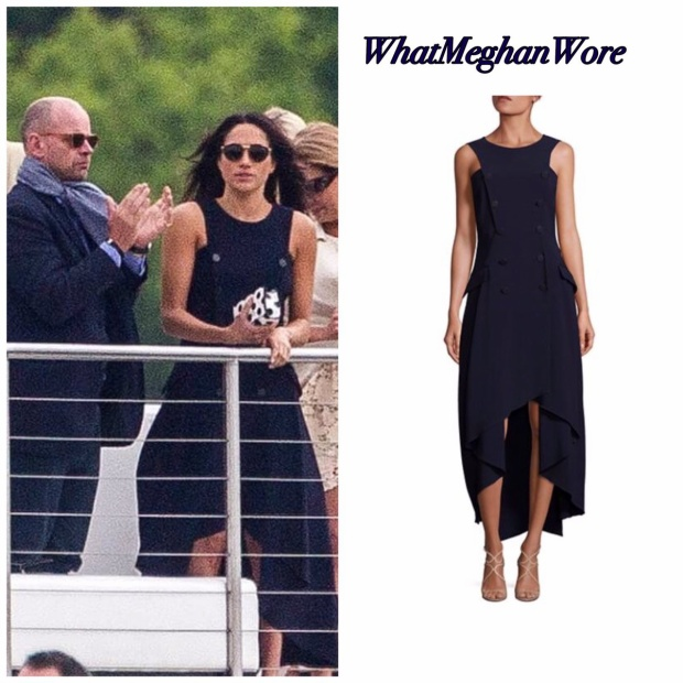 Trong lần gặp gỡ đầu tiên, Meghan Markle đã diện chiếc váy cưới màu xanh hải quân của hãng. Mẫu váy tinh tế này nhanh chóng bán hết tại tất cả các chi nhánh chỉ sau một ngày.