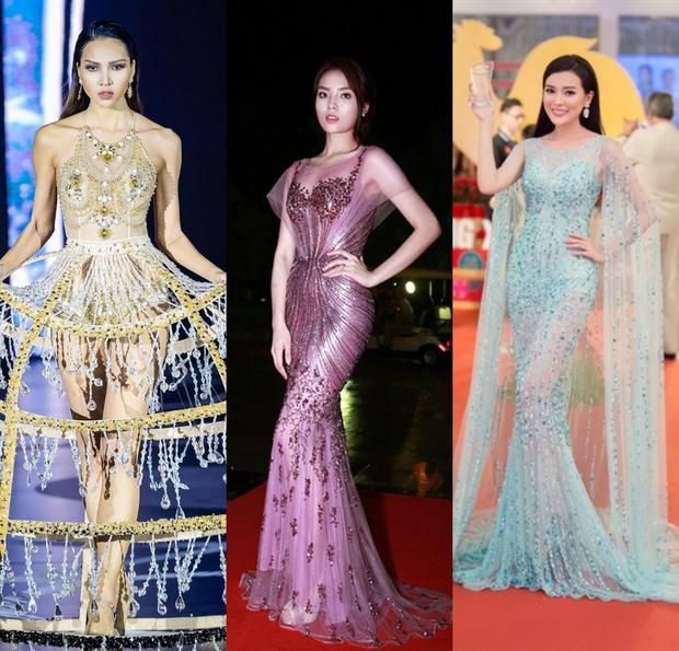 Kiểu dáng không đa dạng, chất liệu không mấy đổi mới, màu sắc tẻ nhạt cũng là những nguyên nhân khiến những bộ đầm xuyên thấu của sao Việt lép vế trước nàng Hoa đán Phạm Băng Băng.
