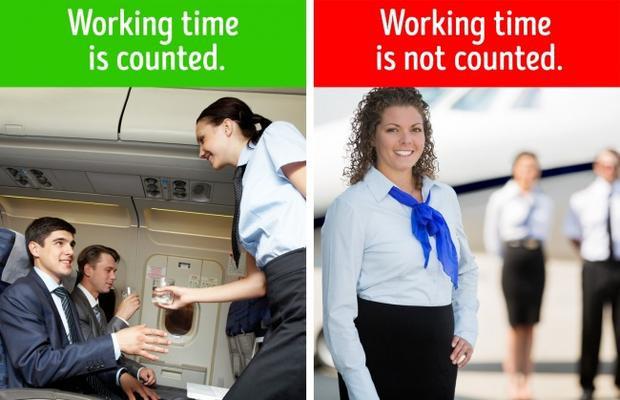10. Việc trễ chuyến bay không chỉ ảnh hưởng đến hành khách mà còn cả tiếp viên hàng không: Vì tiếp viên hàng không chỉ được trả lương khi tham gia chuyến bay. Còn thời gian trên mặt đất? Tất nhiên là không tính rồi. Các công ty hàng không chỉ đồng ý chi trả một phần trợ cấp nhỏ cho mỗi giờ tiếp viên ở tại sân bay. Vậy nên, nếu chuyến bay của bạn có bị chậm trễ thì cũng đừng tỏ ra gắt gỏng với tiếp viên hàng không nhé.