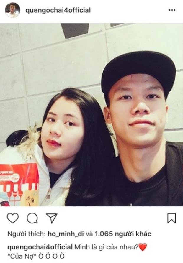 Tấm ảnh chung của Ngọc Hải và vợ tương lai.