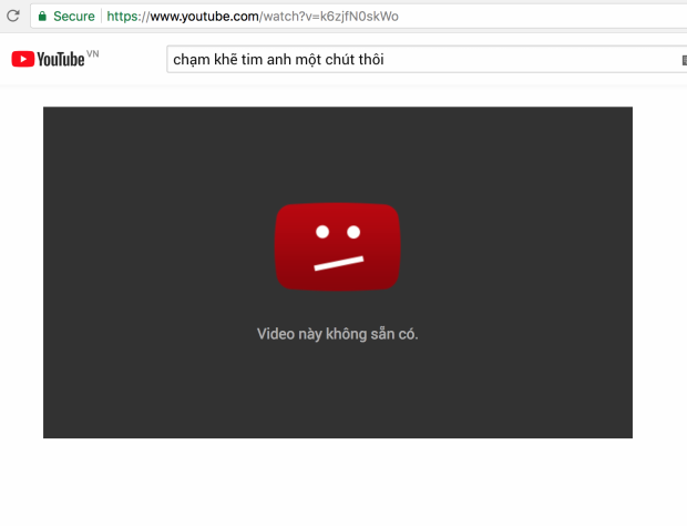 """Tuy nhiên, cùng 1 đường link ấy, nay video lại đang ở chế độ """"không sẵn có"""" khiến khán giả không thể xem được nữa."""