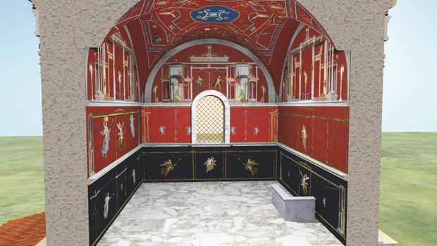 Bản thiết kế trùng tu lại ngôi mộ.