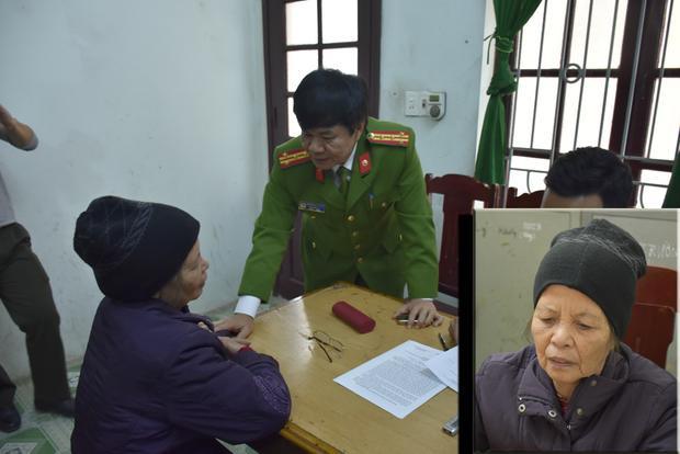 Bà Phạm Thị Xuân tại cơ quan điều tra.