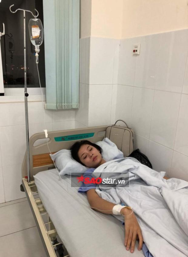 Chúng Huyền Thanh nhập viện trong thời gian tham gia Miss Universe Vietnam 2017.