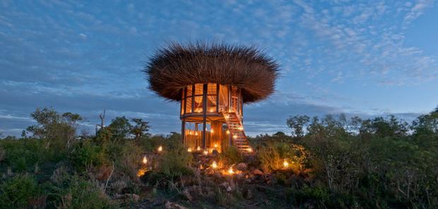 Biệt thự mới này ở Kenyathực sự giống với tổ chim. Ảnh: Jimmy Nelson