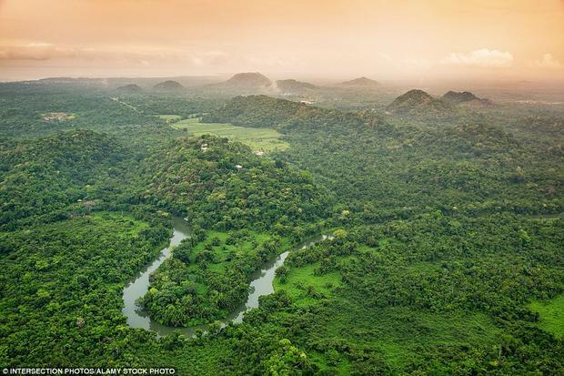 Belize: Đảo Belize góp mặt trong danh sách nhờ vào phong cảnh tuyệt đẹp và được mệnh danh là thiên đường của thợ lặn. Trong ảnh là khung cảnh những khu rừng già nằm gần khu nghỉ dưỡng Belcampo Lodge.