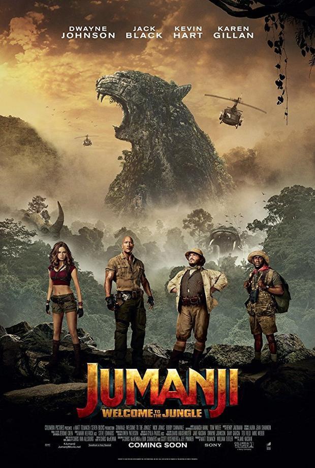 Poster của Jumanji 2017.